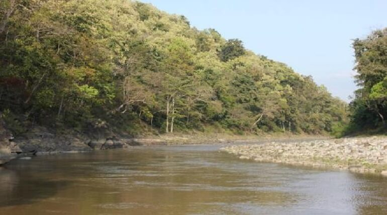 Mandal And Palain River Of Jim Corbett